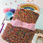 Rainbow sprinkle Tower Cake