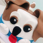puppy cake from the cupcake princess