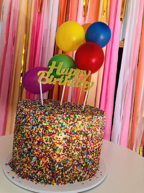 Classic Sprinkle Birthday Cake sydney