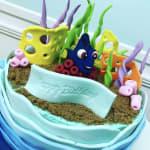 Underwater Happy Birthday Cake