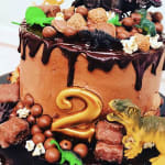 Dinosaur Choc Drip Cakes