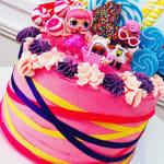 LOL Ribbon Cake