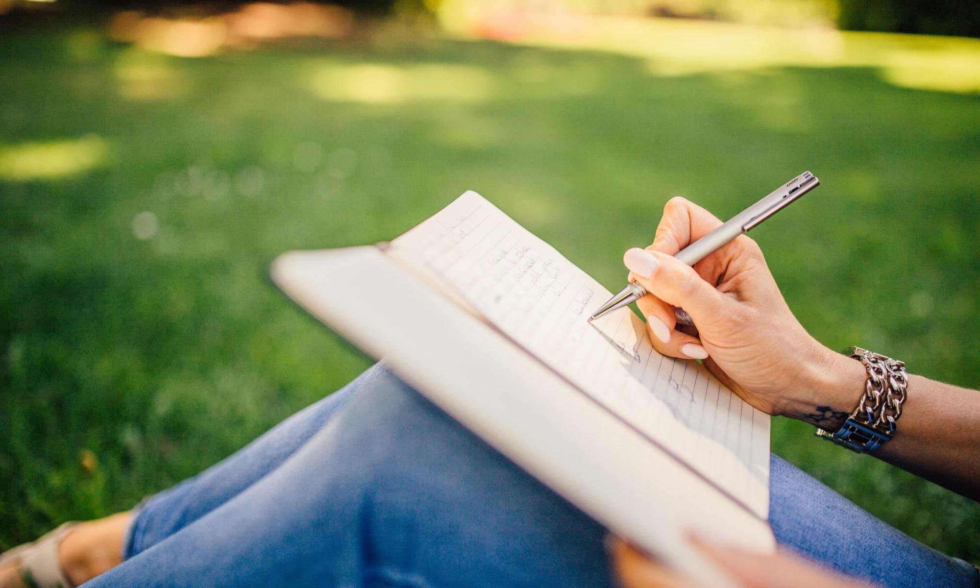writing in a field