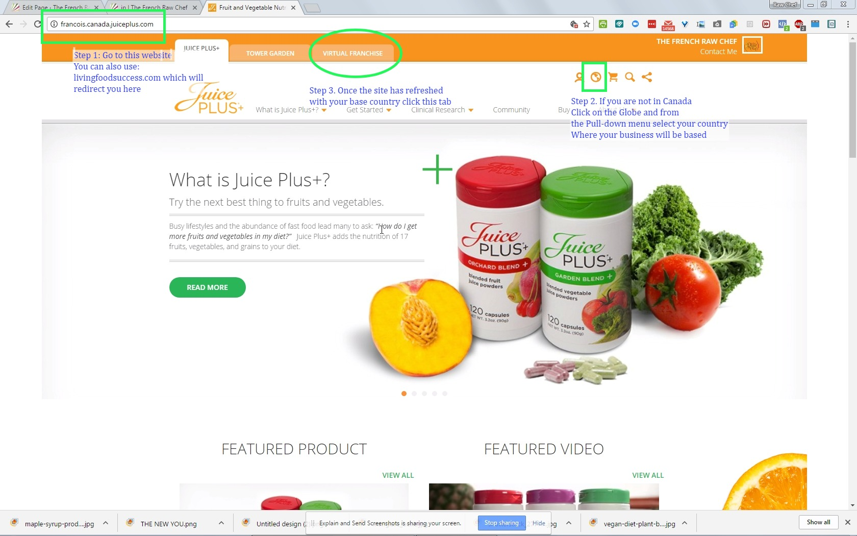 how to sign up as a juice plus distributor