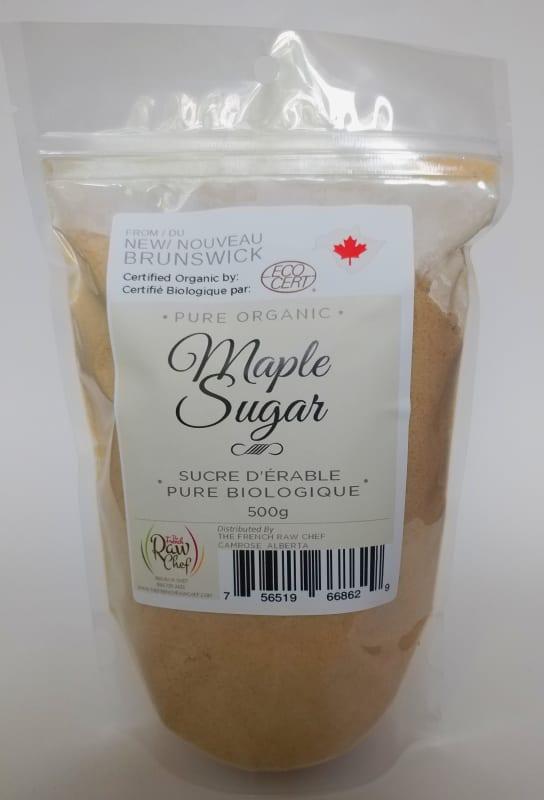 organic maple sugar 500 gram bag