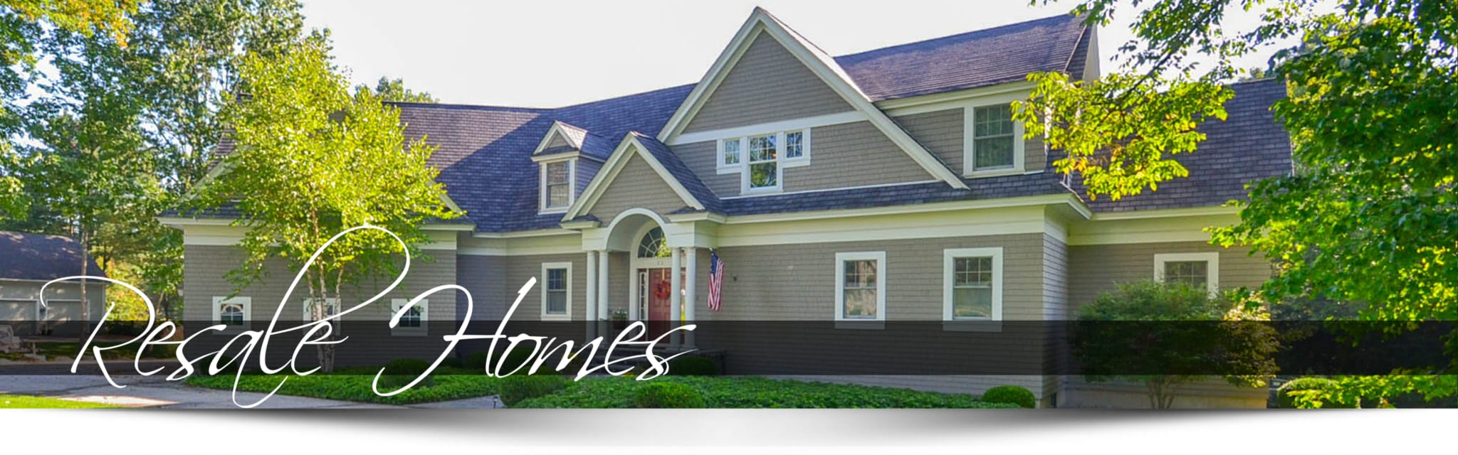Home with resale homes banner