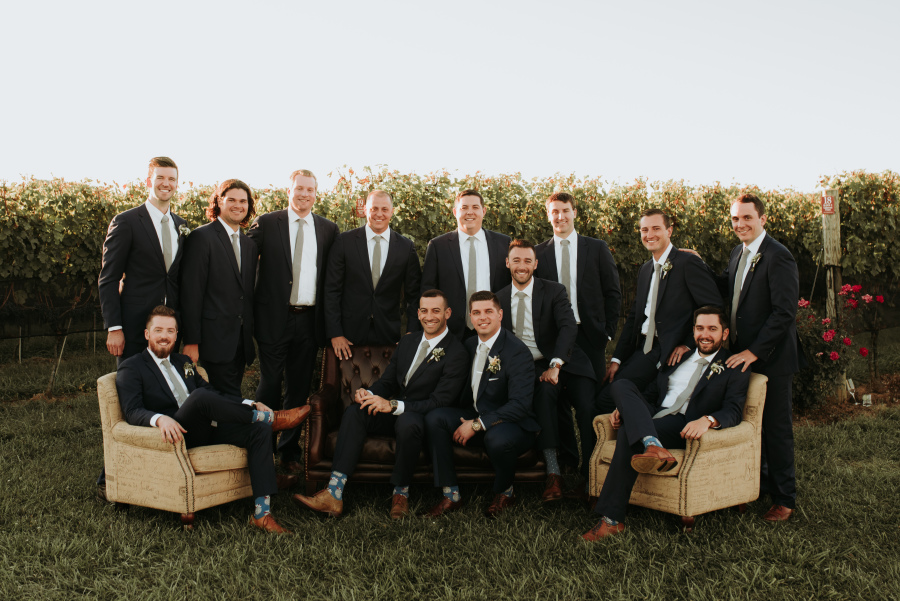 Brett and Leigh - Real Weddings by The Groomsman Suit