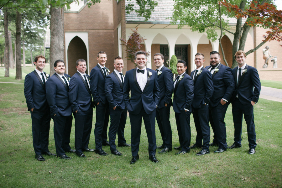 Christopher and Courtney - Real Weddings by The Groomsman Suit