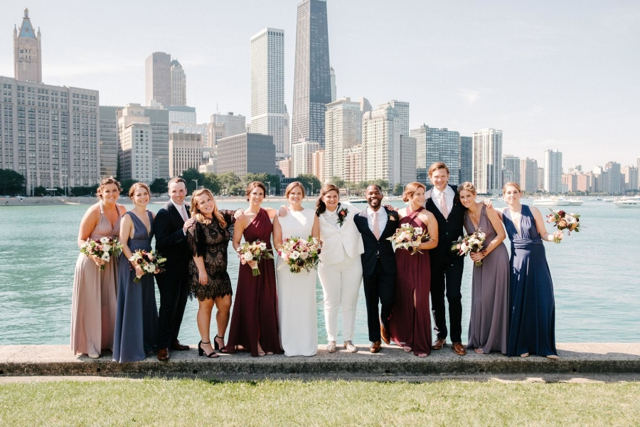Kasey and Lauren - Real Weddings by The Groomsman Suit