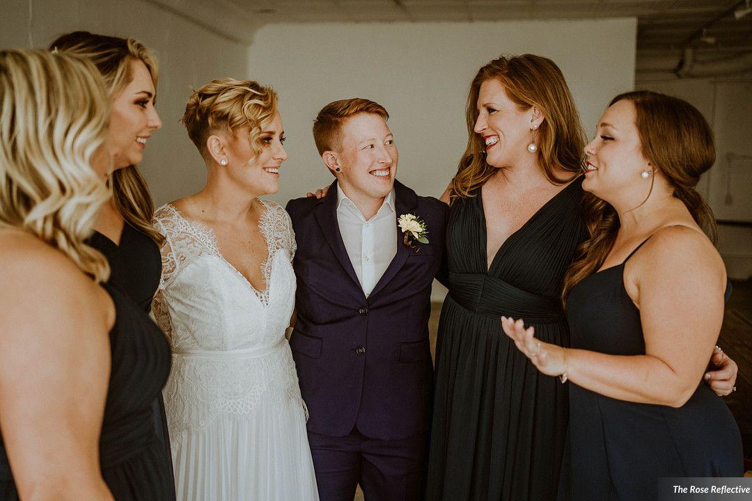 Chelsey and Melanie - Real Weddings by The Groomsman Suit