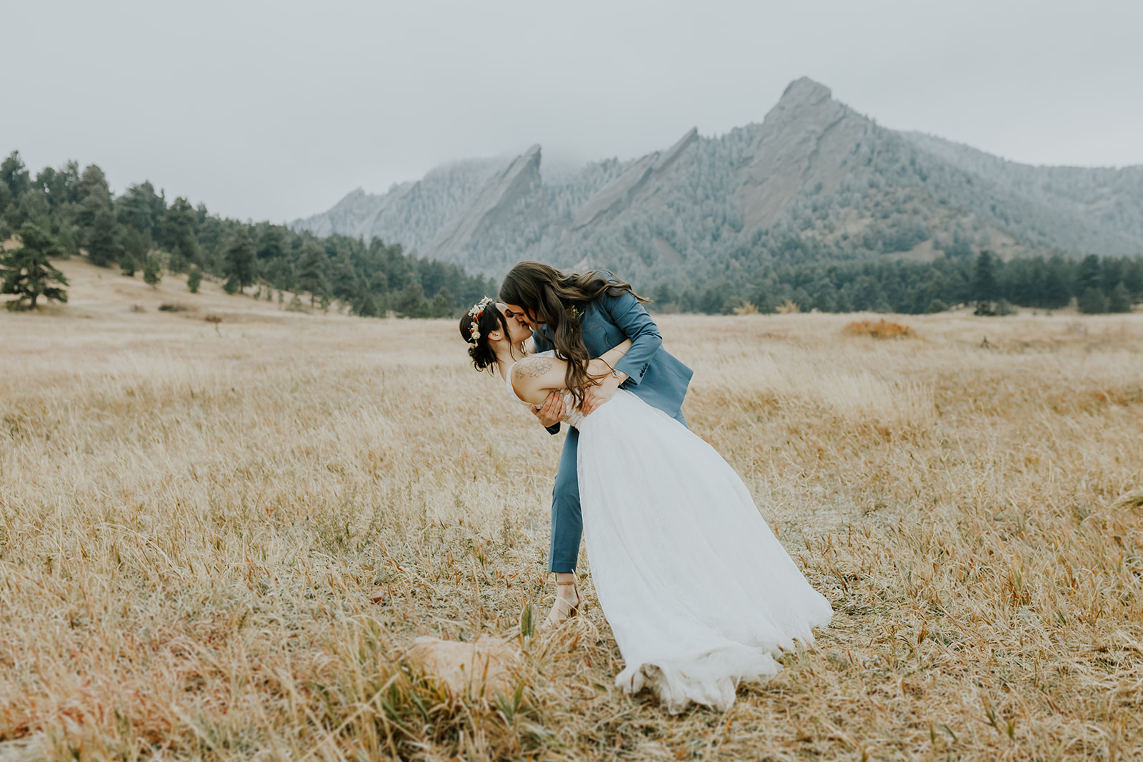 Meredith and Megan - Real Weddings by The Groomsman Suit
