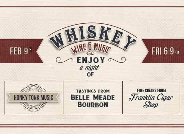 whiskey wine music
