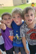 Some of Mrs. Fleming's kindergarten boys enjoying games