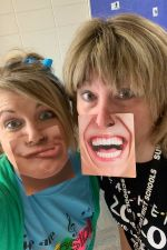 Dr. H and Mrs. T getting silly at Walk for Riverside!