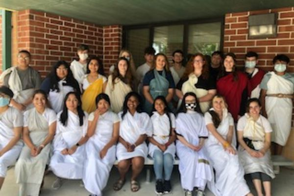 Language Arts Students participate in Toga Day!