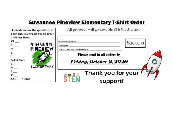 School T-Shirt Orders Due Friday, October 2nd
