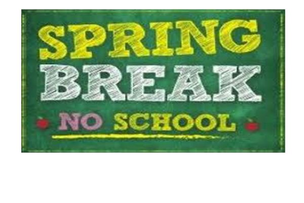 No School for Spring Break April 19th - April 26th