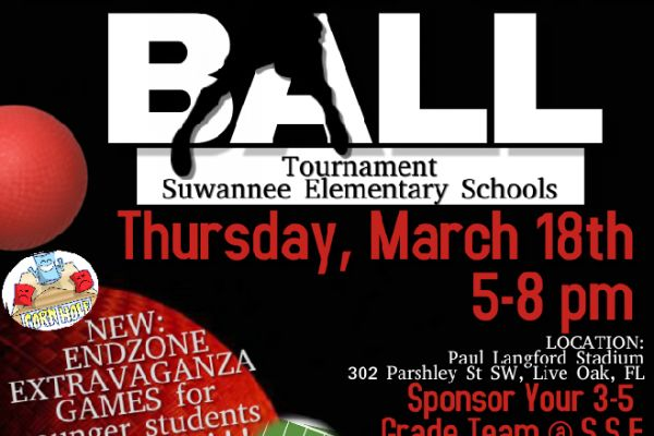 Suwannee Elementary Schools Dodgeball Tournament Set for March 18th