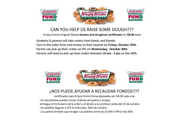 Krispy Kreme Fundraiser October 9-25