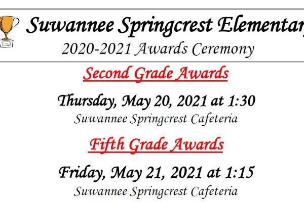 Award Ceremonies Schedule
