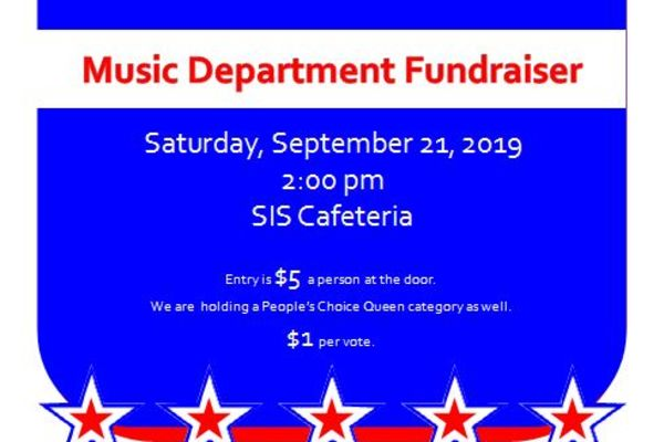 Miss SIS Pageant Saturday, Sept. 21, 2019 at 2:00 pm