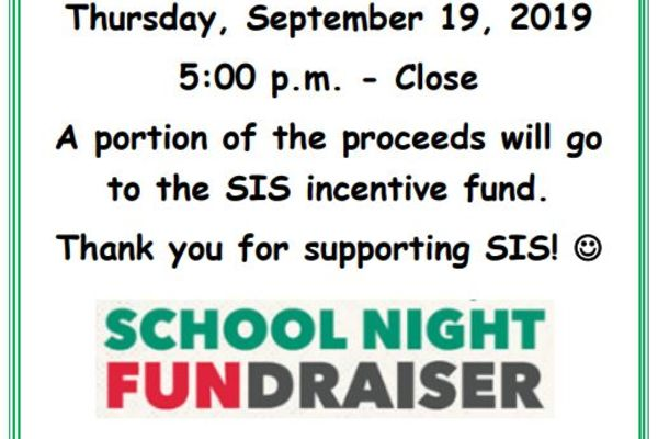 Papa John's School Fundraiser Night 09/19/19