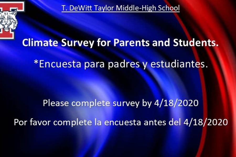 Parents and Students-Please complete our Climate Survey