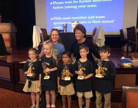 See Pictures of Grady Winning First Place at the Math Bowl!