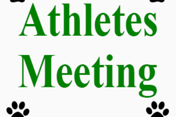 Athletes Meeting - Feb 21st @ 6pm