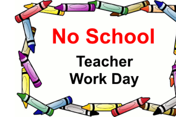 No School, Monday, May 7th for a PD day