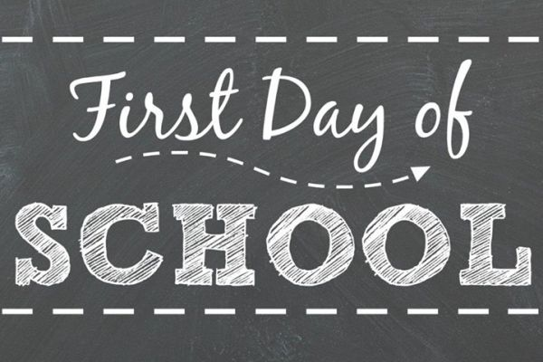 First Day of School - Monday, August 12th