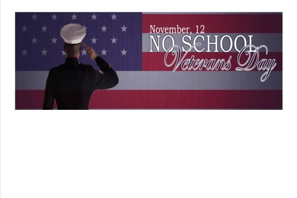 No School for Veterans Day, Monday,November 12th