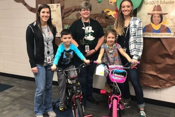 SPS Students Win Bike for Perfect Attendance