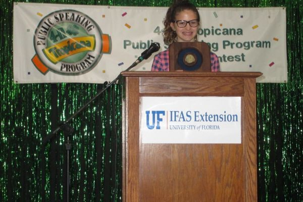 SMS Students Wins 4-H/Tropicana Public Speaking Contest