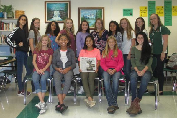 Suwannee Middle Announces Newspaper Staff