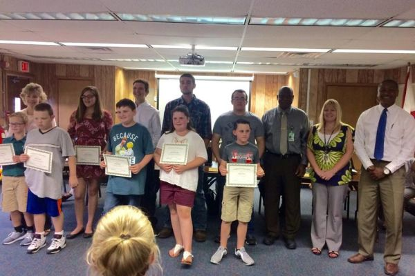 Students Recognized for Perfect Test Scores