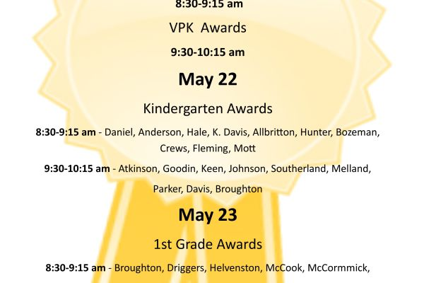 SPS Awards Days and Times
