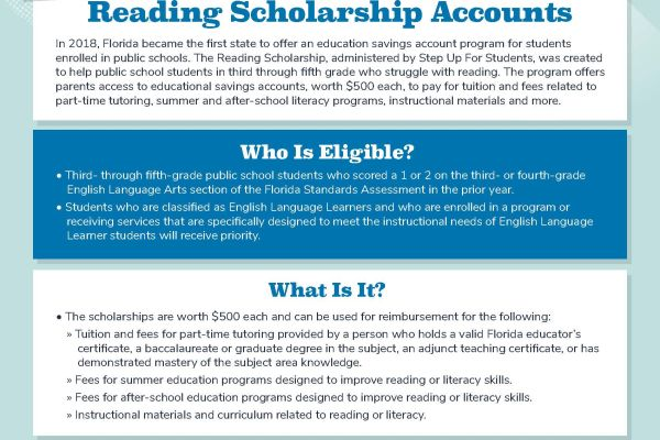 Reading Scholarships Available