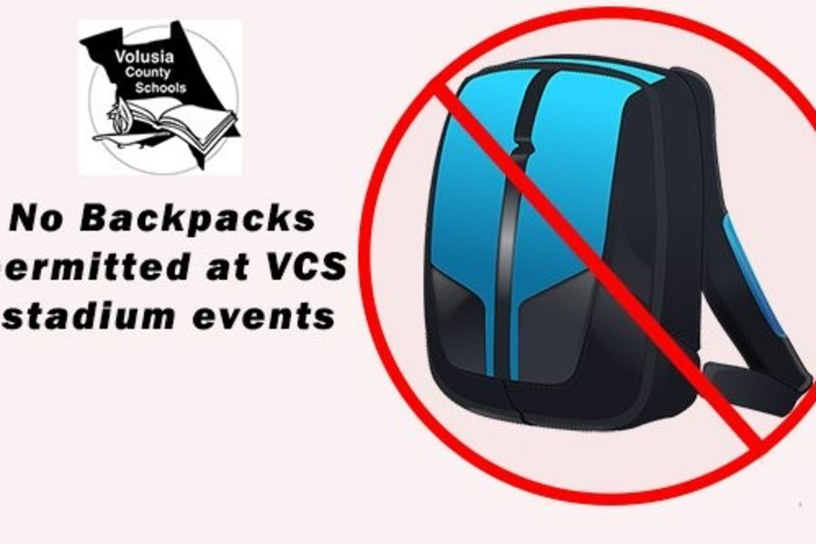 No Backpacks permitted at VCS Stadiums