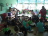 St. Anne's Middle Schoolers reading to Kindergarteners in Costa Rica