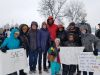 St. Anne's community members marching at the annual Martin Luther King Jr. Day Marade