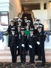 SHS NJROTC Cadets take a picture with their official attire on.