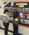Students participate in Shelfie Contest and Walking Word Wall.