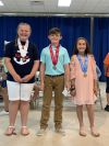 5th Grade-1st Place Jaylee Manuel, 2nd Place Lane Pelfrey, 3rd Place Railey Holley