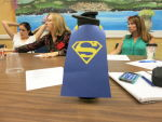 Personalized Cups with Superhero Capes went to each member of Grady's Faculty & Staff