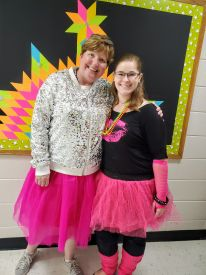 Mrs. Frye and Ms. Reid are rocking it 80's style!