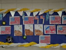 Kindergarten patriotic painting
