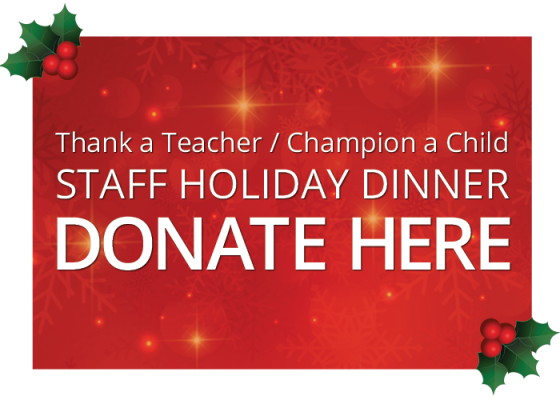 Staff Holiday Dinner Donations Needed