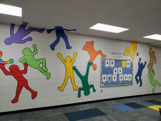 Kindergarten & 1st grade Haring display
