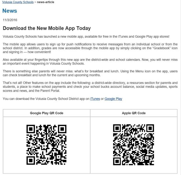 Volusia County School Calendar 2016 2020 NEW Volusia County Schools Mobile App   New Smyrna Beach High School